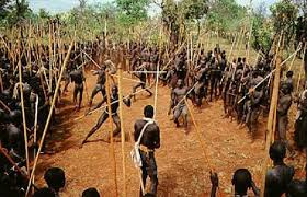 The Nguni stick fighting
