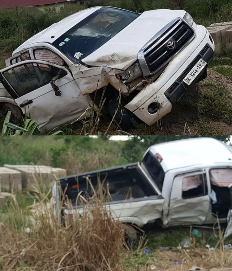 Ghanaian Musician Yaw Sarpong Involved In A Terrible Car Accident