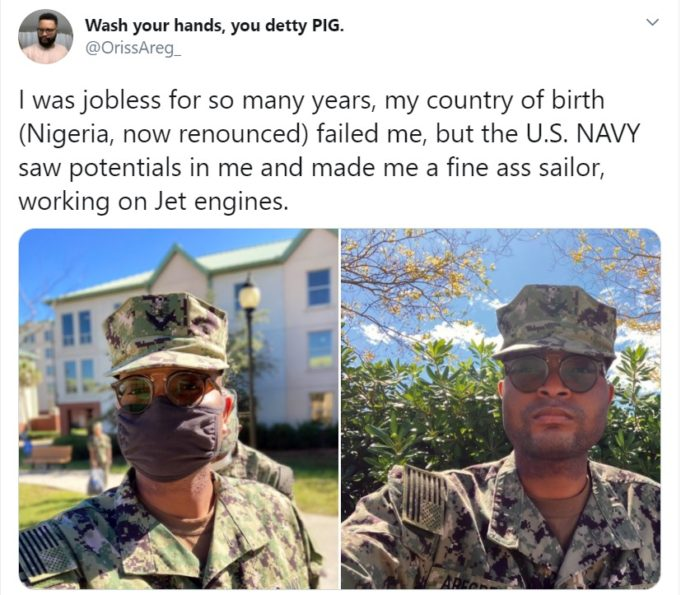 My country of birth failed me but the US Navy saw potentials in me — Ex-Nigerian man